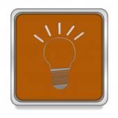 Light bulb square icon on white background — Stock Photo