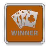 Winner square icon on white background — Stock Photo