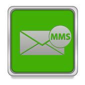 Mms square icon on white background — Stock Photo
