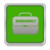 白い背景の上の緊急の正方形のアイコン — ストック写真