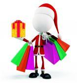 3d Santa for Christmas — Stok fotoğraf