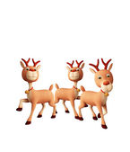 Reindeer with whiteboard — Stock Photo