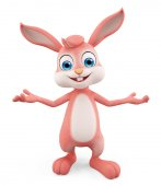 Easter Bunny with presentation pose — Stock Photo