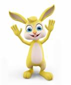 Easter Bunny with saying hi pose — Stock Photo