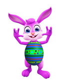 Easter bunny with funny pose — Stock Photo