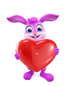 Easter Bunny with heart sign — Stock Photo
