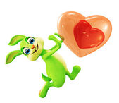 Easter bunny with Heart — Stock Photo