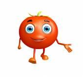 Tomato character with presentation pose — Stockfoto
