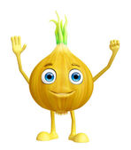Onion character with saying hi pose — Stock Photo