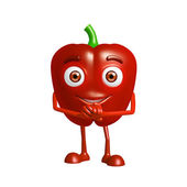 capsicum character with promise pose — Stock Photo