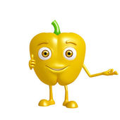 capsicum character with presentation pose — Stock Photo