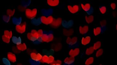 Heart-shaped color light blinking — Vídeo de Stock