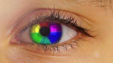 Rainbow  Eye — Stock Video