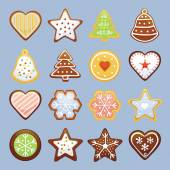 Christmas cookies — Stock Vector