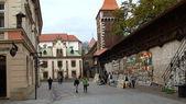 Krakow's defensive walls and art (1) — Stock Photo