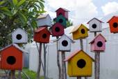Wooden bird house — Stock Photo