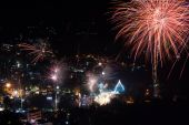 The colorful fireworks festival 2014 — Stock Photo