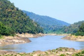 Salween River  at frontier Thailand and Myanmar — Stock Photo