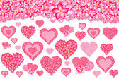 Flower pattern for a heart shape. — Stock Photo