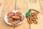 Date palm on the wood. — Stock Photo