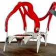 Grey alpine climbing crampons close up image — Foto de Stock   #59862373