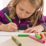 Drawing baby girl — Stock Photo #60057819