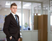 Young male businessman in the office — Stock Photo
