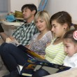 Reading family — Stock Photo #61290477