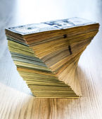 Thick stack of US cash — Stock Photo