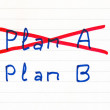 Plan A failed, we need plan B — Stock Photo #65144637