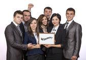 Winning corporate business team — Stock Photo