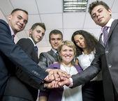Friendly harmonious business team — Zdjęcie stockowe