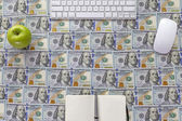 Working place of money maker — Stock Photo