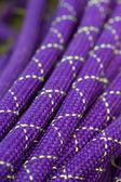 Close-up image of alpine climbing rope — Stock Photo