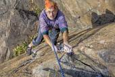 Aged rock climber — Stock Photo