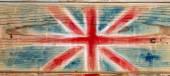 British flag on wood — Stock Photo