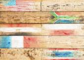 Global conceptual wooden background — Stock Photo