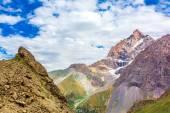 Mountain terrain panorama — Stock Photo