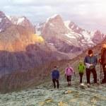 People on mountain pathway — Stock Photo #80470942