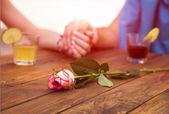 Romantic scene flower — Stock Photo