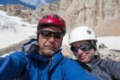 Joyful Alpine Climbers Self Portrait — Stock Photo