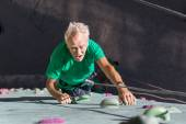 Aged Person Practicing Extreme Sport — Stock Photo