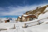 Typical chalet in italian alps — Stock Photo