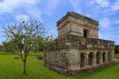 Tulum Temple of the paintings or  Frescoes — Stock Photo
