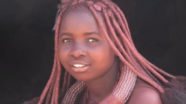 Woman of Himba Tribe — 图库视频影像
