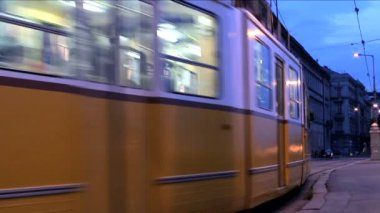 Public transport in Budapest — Stock Video