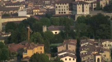 Bergamo city view — Stock Video