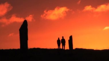 The Ring of Brodgar Standing stones — Stock Video