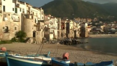 The town of Cefalu — Stock Video
