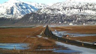 Icelandic winter road — Stock Video